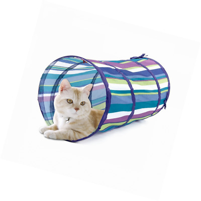 PAWZ Road Cat Tunnel Indoor Kitten Tube With Ball Cat Toy Stripe Printed Interac
