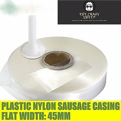100M Flat Width 45mm Diameter 28mm Nylon Sausage Casing Plastic Sausage Home Use