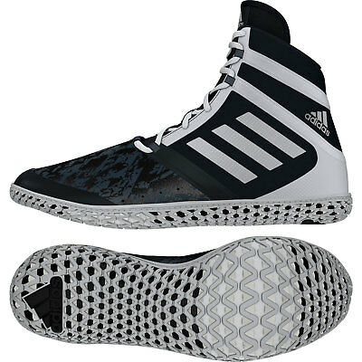 Adidas Flying impact Wrestling Shoes Black & White Boots Trainers Pumps
