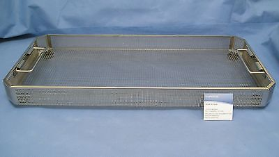 """Aesculap JF222R Perforated Storage Basket, Full Size: 21"""" x 10"""" x 2.25"""""""