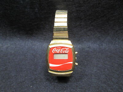 ORIGINAL  enjoy Coca~Cola  SMALL GOLD LADIES WATCH MADE IN HONG KONG