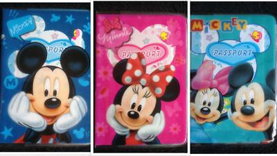 MINNIE MICKEY MOUSE Childrens Passport Cover Case Protector Holder Kids NEW