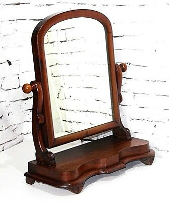 Antique Victorian Mahogany Dressing Table Mirror - FREE Shipping [PL3896]