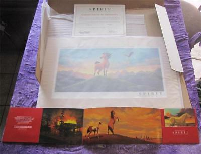 Spirit Stallion of The Cimarron Lithograph Limited ED No. Dream Works Animation