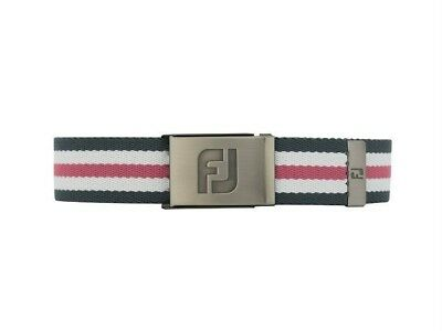 Footjoy Canvas Belt 2017 Charcoal / White / Pink 69361 Clearance