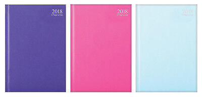 2018 Diary A4/A5/A6 Page A Day/Week to view Casebound Fashion DiaryPurple, Pink