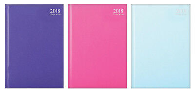 Pastel Pink 2018 Diary A4/A5/A6 Page A Day/Week to view Casebound Fashion Diary