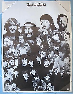 """1970's - BEATLES PROMOTIONAL POSTER by APPLE - 18"""" by 24"""" - ROLLED - B/W"""