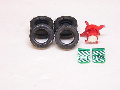 HESS Gasoline Toy Truck Parts Tires Original Parts 1987  OEM
