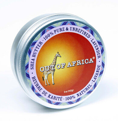 Organic Vegan Shea Butter Tin by Out of Africa - Lavender 142gm