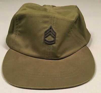 Vintage POST Vietnam US Army OG-106 Field Cap Hot Weather Size 6 3/4 DATED '76