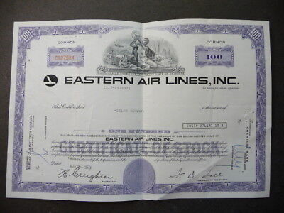 Original=Vintage=Eastern Airline Stock Certificate=Make A Reasonable Offer=Tryme