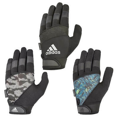 Adidas Mens Full Finger Performance Weight Lifting Gloves Training Gym Workout