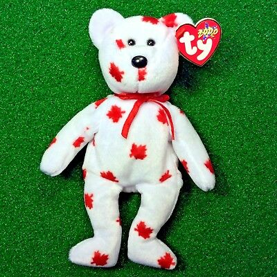 Extremely RARE Chinook The Bear Retired 2000 Ty Beanie Baby MWMT Canadian Tush