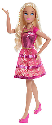 """Barbie 28"""" Doll Blonde Removable Outfit Shoes Necklace and Purse Accessory NEW"""