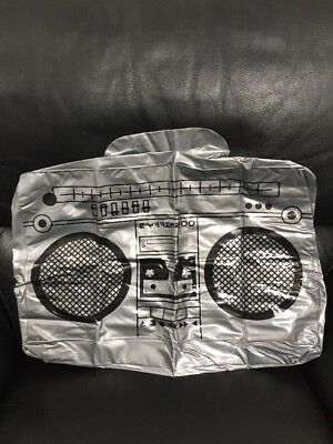 "Halloween Accessory INFLATABLE ""Boom Box"" NEW With Small Defect"