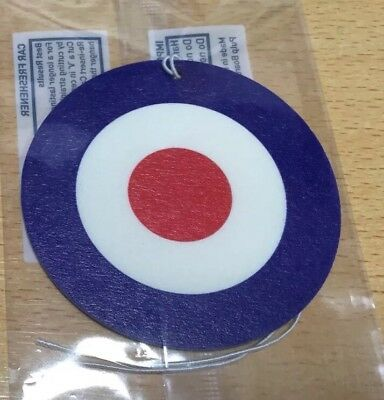 Mod Air Freshener - Gift Northern Soul  Car Target RAF