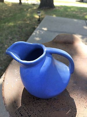 "NILOAK Small Size MINIATURE PITCHER JUG Art Pottery GORGEOUS BLUE 4.5"" Tall"