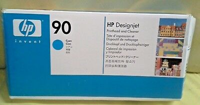Hp 90 Designjet Cyan Printhead & Cleaner C5055A New In Factory Sealed Box