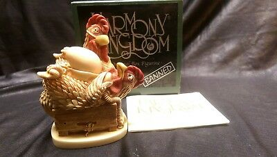Harmony Kingdom RARE 149/300 Tough It Out  Signed BLACK BOX SERIES BANNED