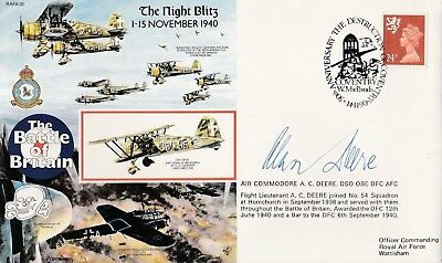 RAF Battle of Britain The Night Blitz 1940 cover signed Alan Deere