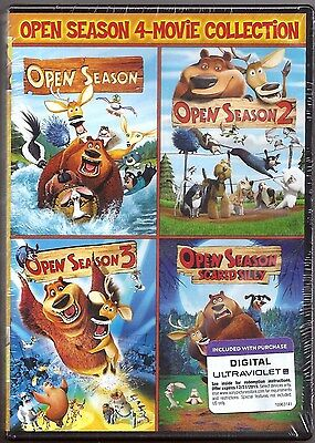 Open Season 1, 2, 3 & 4 - DVD 4-Movie Collection BRAND NEW