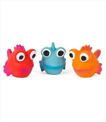 Coastal Rascals Latex Toy Goldfish Asst Colors  Free Shipping