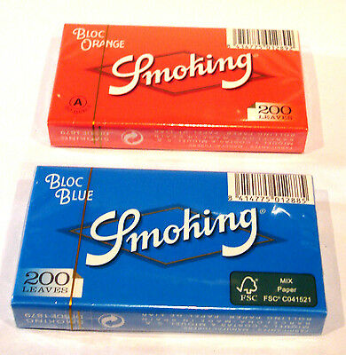 Papel de Fumar Smoking Bloc Blue 200 + Bloc Orange 200 - Smoking paper