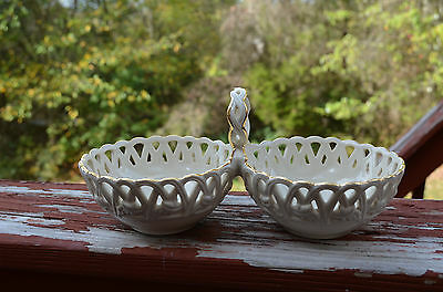 Lenox Classic Double Dish 9.25 inches Gold Trim