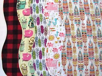 Burp Cloths Gender Neutral Unisex Double Layered Flannel Soft Absorbent Handmade