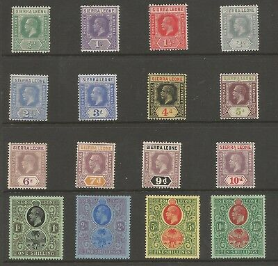 Sierra Leone Sg131-46 The 1921-27 Gv Set To 10/- Fine And Fresh Mounted Mint