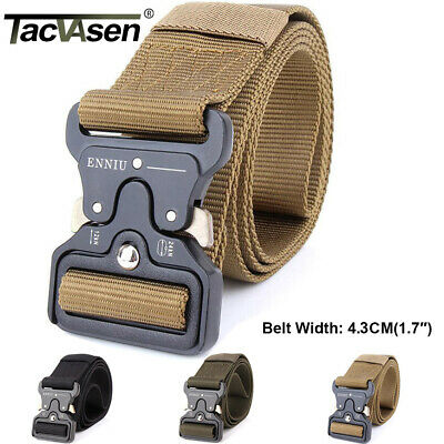 TACVASEN Tactical Heavy Duty US Soldier Mens SWAT Military Belt Combat Army Belt