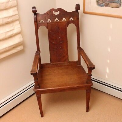 Beautiful swedish carved wooden chair