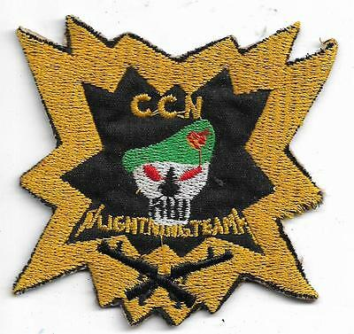 US Army 5th Special Forces Shellburst CCN Lighting Team Vintage Vietnam Patch