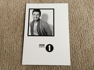 Danny Howard Radio 1 Unsigned Card - Mint Condition