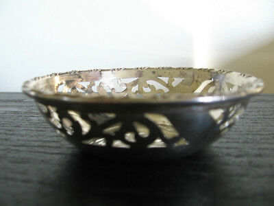 Antique CSG & Co Charles S Green Sterling Silver Filigree Nut Dish