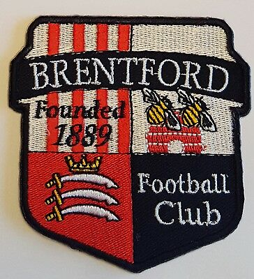 Brentford FC Crest Iron on/sew on soccer football patch badge