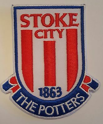 "Stoke City FC ""The Potters"" Crest Iron on/sew on soccer football patch badge"