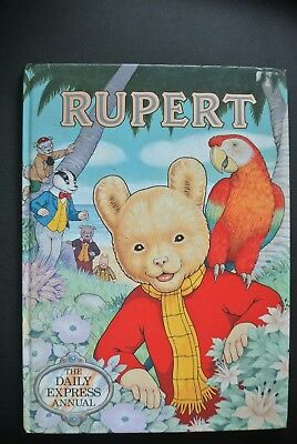 Vintage Original Rupert Bear Annual And Books