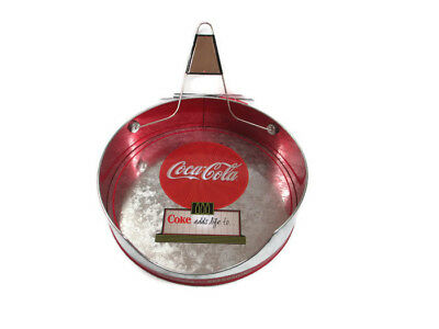 Coca-Cola Metal Paper Plate Holder for up to 9.5 inch paper plates - BRAND NEW