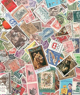 Worldwide Vintage Postage Stamp Collection (30 per lot) In Envelopes