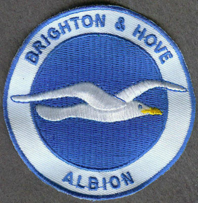 Brighton & Hove Albion Crest Iron on/sew on soccer football patch badge