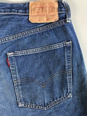 Vintage Levi's Big E Cut Off Denim Jeans Craft Project Shorts Salvage Button Fly