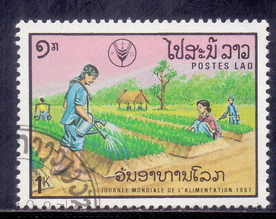 Laos  Theme  Agriculture - Crops 1987.