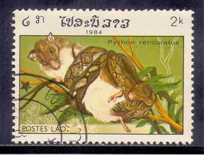 Laos   Reticulated Phython  Animal 1984.
