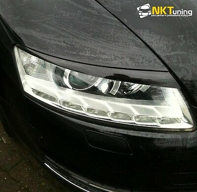 Audi A6 S6 RS6 C6 4F 04-11 Eyebrows Eyelids Headlight Covers Trims