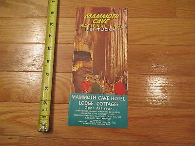 Mammoth Cave National Park Kentucky Brochure Map Travel Ephemera