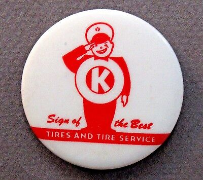 "older OK TIRES 1.75"" celluloid pinback button"