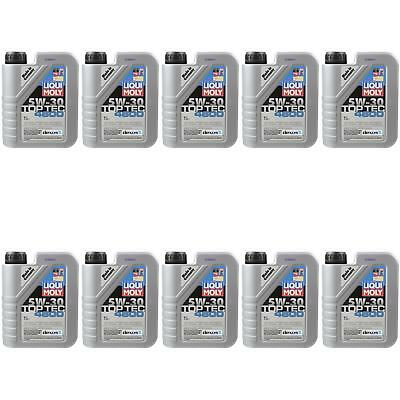 10X1 LITRE GENUINE Liqui Moly 3755 TOP TEC 4600 5W-30 Oil Engine Oil