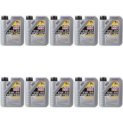 10X1 LITRE GENUINE Liqui Moly 3700 TOP TEC 4100 5W-40 Oil Engine Oil